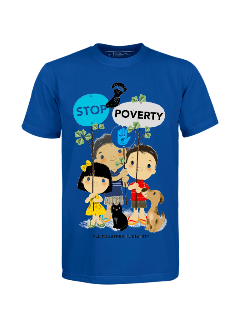 Stop Poverty Tshirt by Robert Alejandro