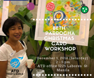 A Christmas Card Workshop by Beth Parrocha @ ATD Fourth World Philippines