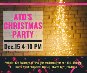 ATD's Christmas Party @ ATD Fourth World Philippines